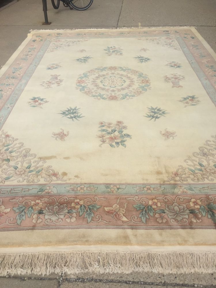 10 X 14 Chinese Aubusson Oriental Rug Full Pile Hand Made 100 Wool Oriental Rug Rugs Area Carpet