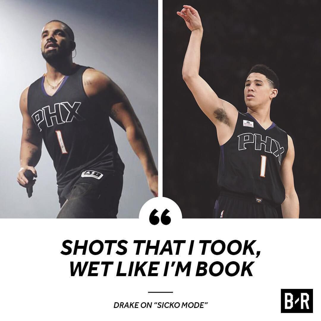 cheap for discount 54b1c 18174 Drake makes a Devin Booker reference on sicko mode a track ...