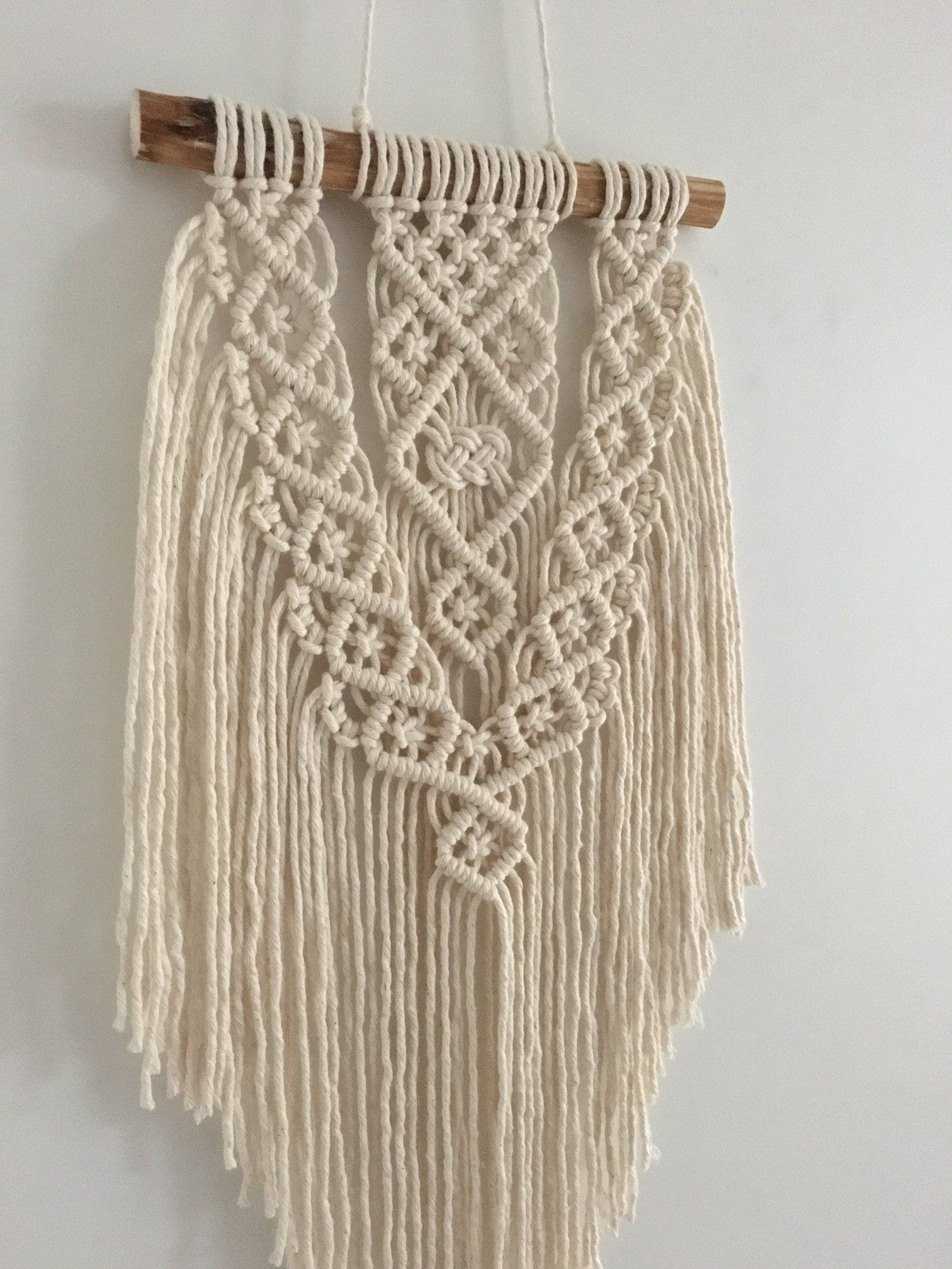 Macrame plantenhanger, mustard, wall planter, wall hanging, wall plant hanger, hanging planter, boho wall decor, plant holder, gift