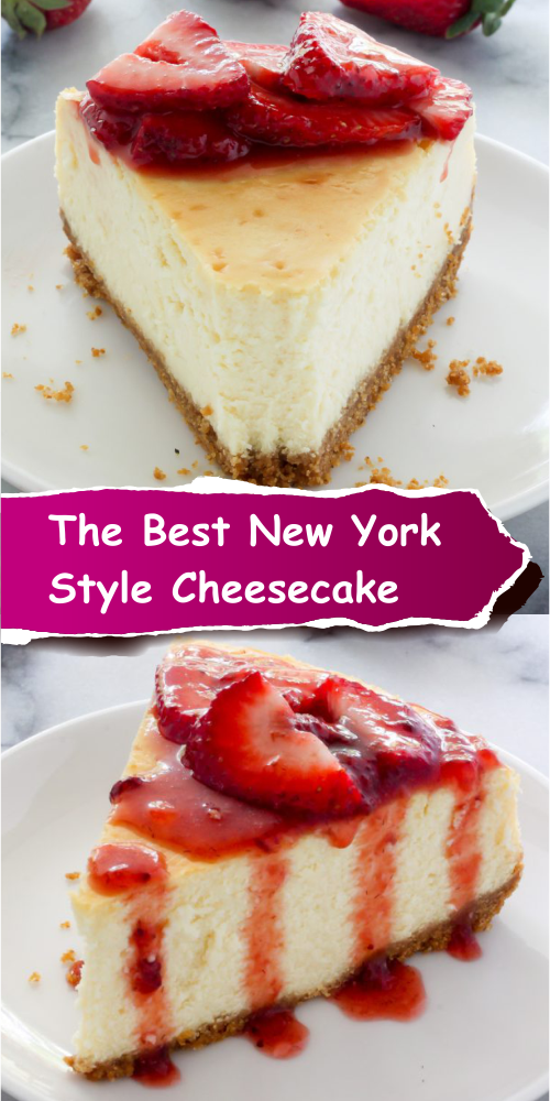 The Best New York-Style Cheesecake - Best easy cooking - Best easy cooking #cheesecakerecipes