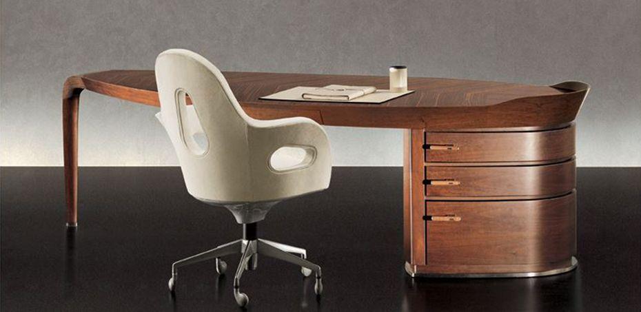 italian desk erasmo by giorgetti designer massimo scolari - Designer Executive Desk