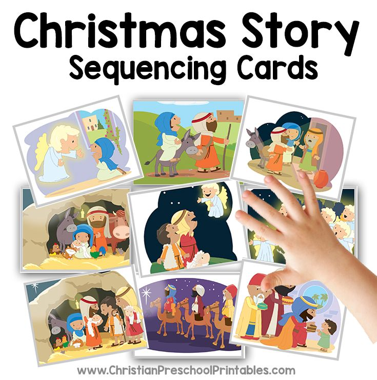 Christmas Story Sequencing Cards Christmas bible