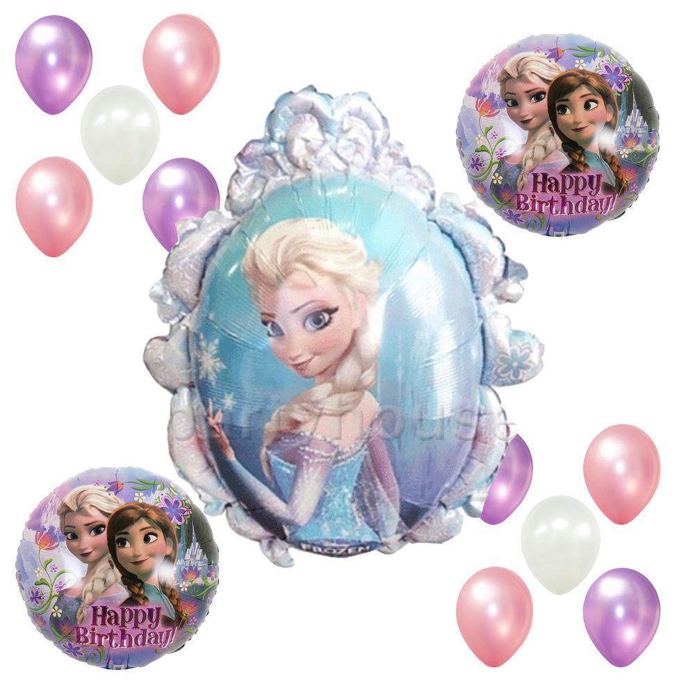 Birthday Party Girl Supplies Elsa Frozen Disney Pink