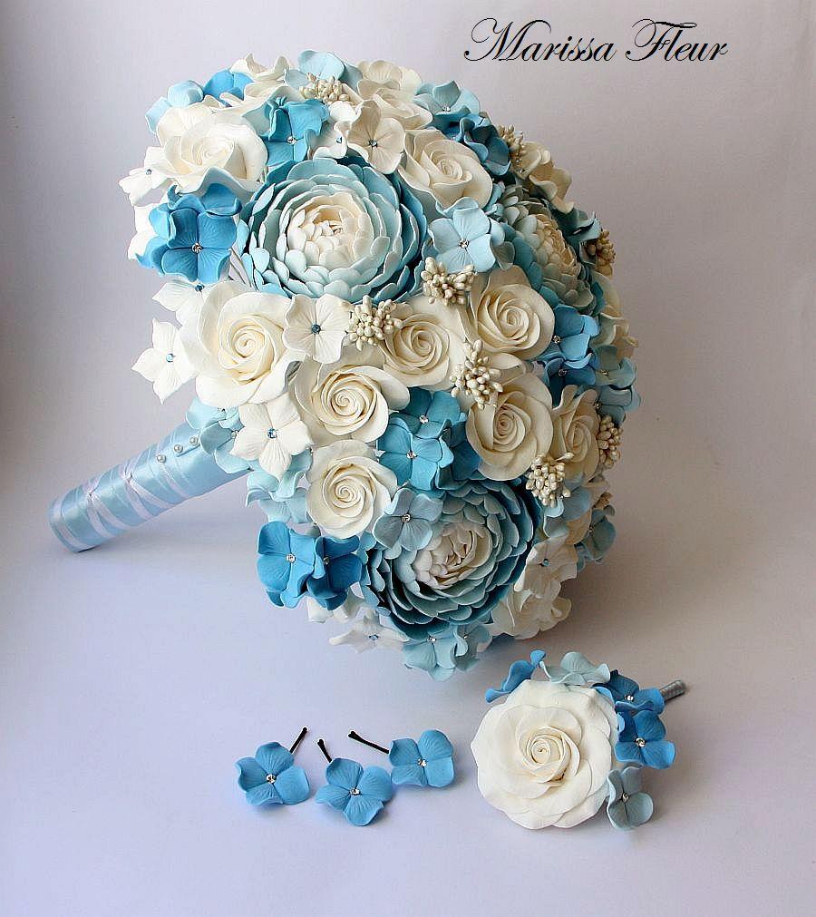 Blue green wedding bouquet of paper flowers weddings pinterest blue green wedding bouquet of paper flowers izmirmasajfo Images