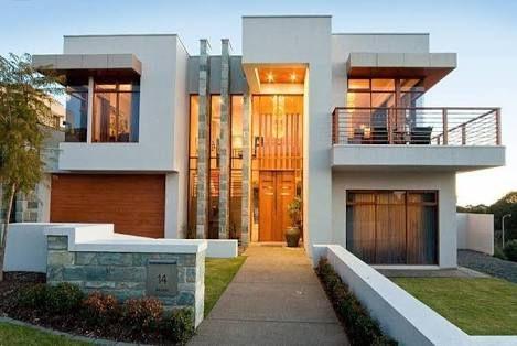 fachadas modernas piedra y madera - Buscar con Google