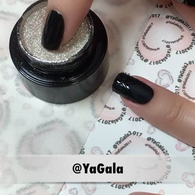 """Mi piace"": 4,620, commenti: 25 - Galina S. (@yagala) su Instagram: ""📽Geometric nails. 🖤Presto No.60; Presto Matte Top Gel; Presto Top Gel; Presto no wipe mixing clear…"""