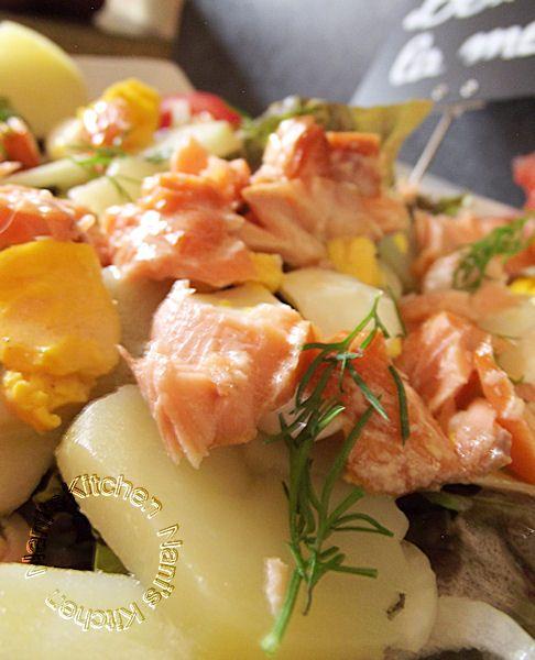 salade pavé saumon fumé pdt aneth (2)