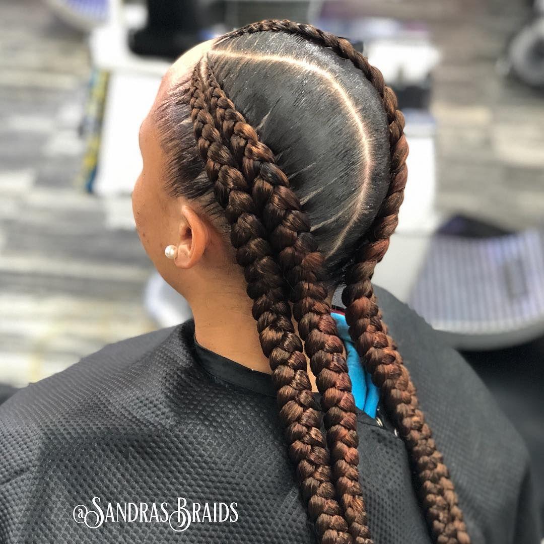 4 braids #houstonbraider #braids