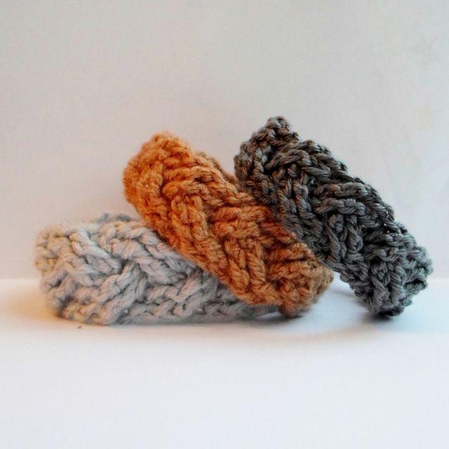 Crochet Cabled Bracelets Free Pattern Knotty Punk Pinterest