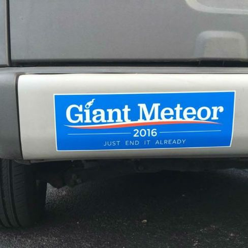 Bumper Sticker Just End It Already