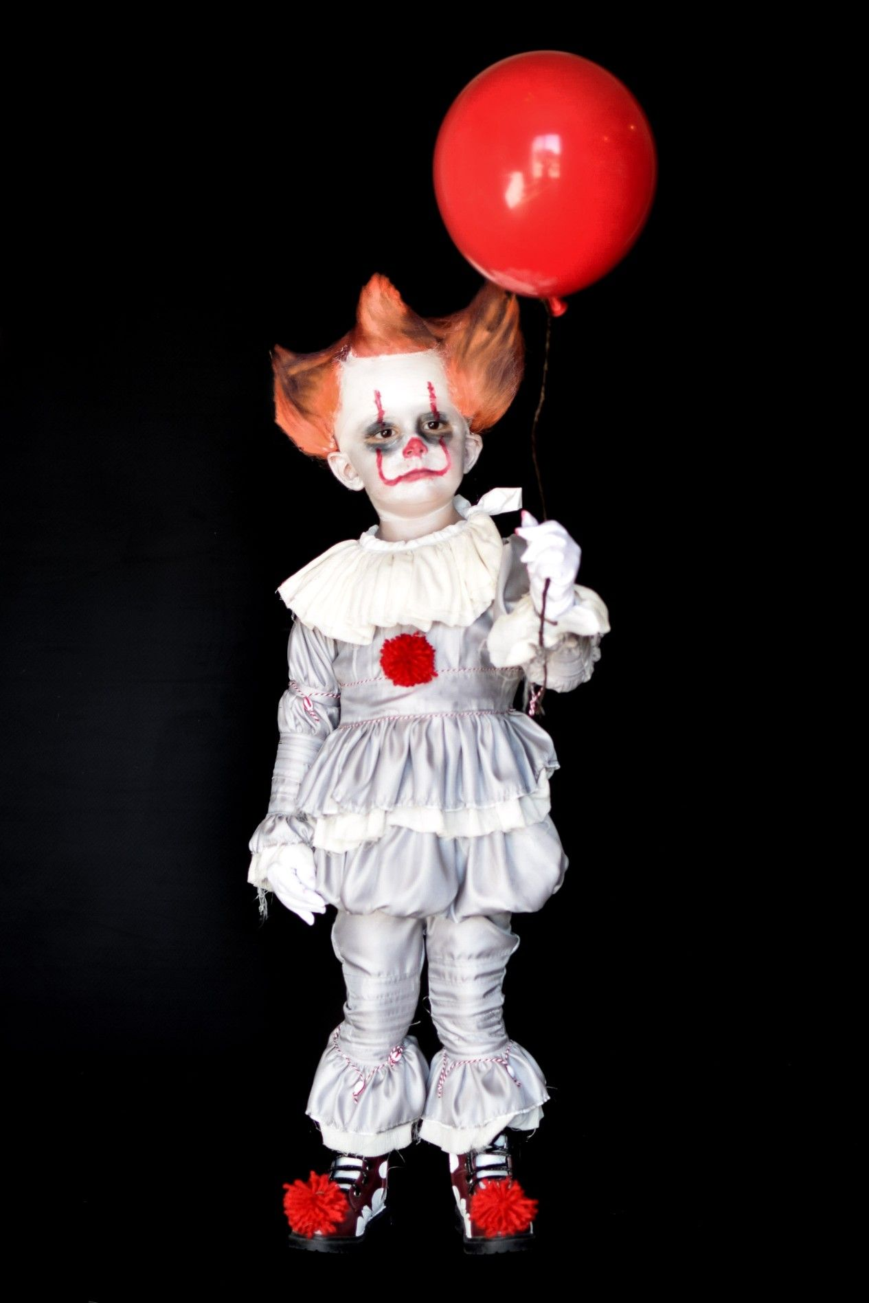 3 year old turns into pennywise clown from the movie it toddler boy halloween costume diy halloween toddler costume pennywise boy it itmovie