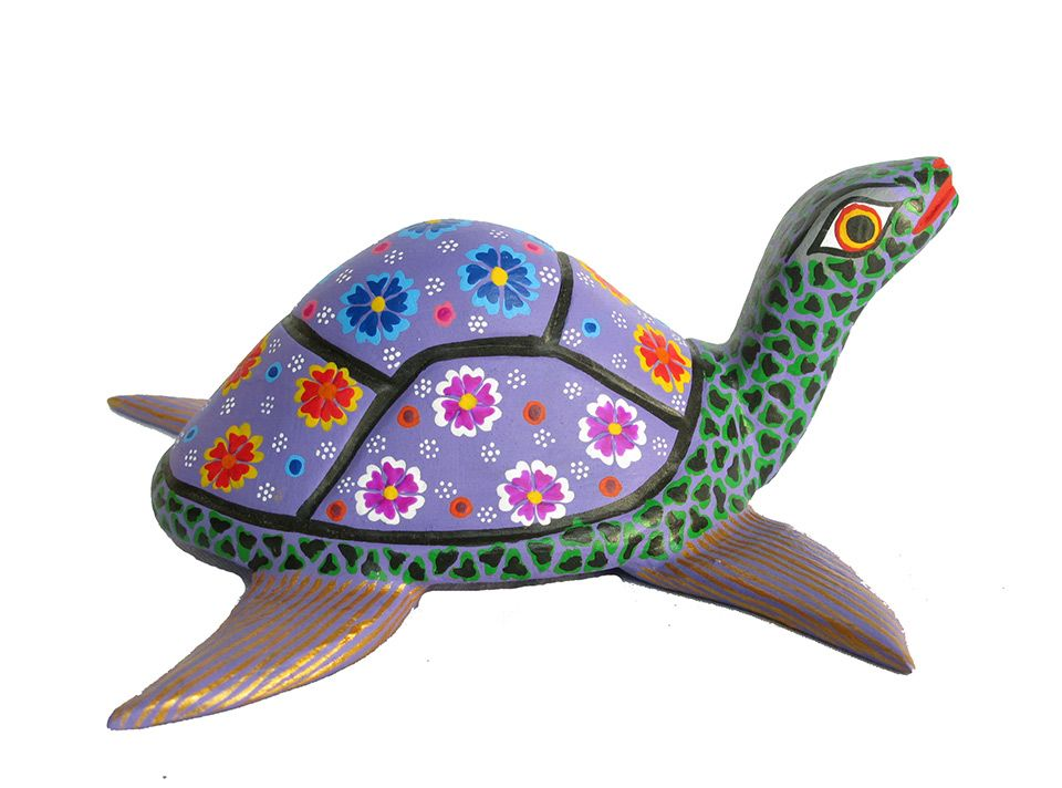 WD-4 TURTLE | A Oaxacan Wood Carving Handmade in Mexico, wooden ...