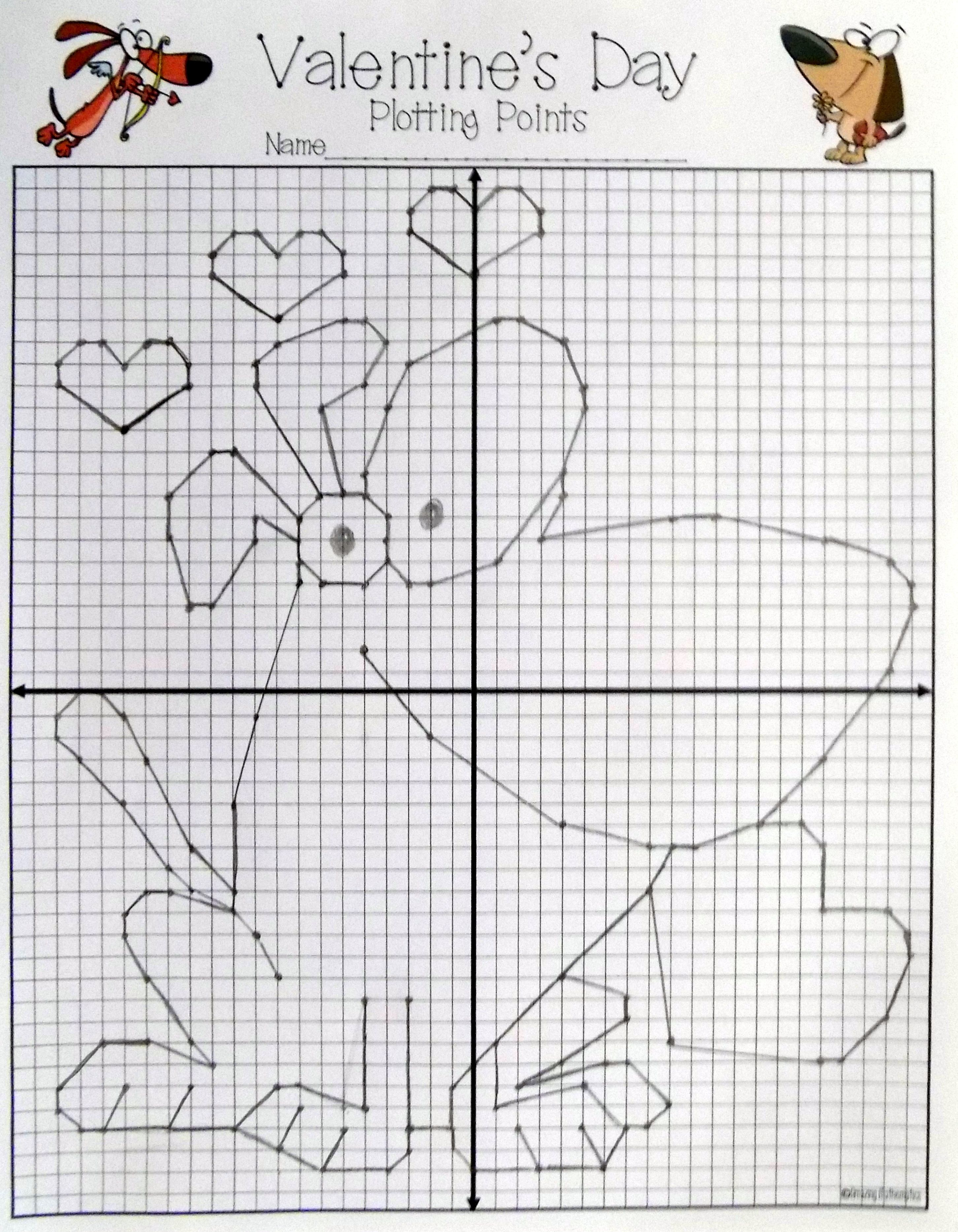 Valentine S Day Math Activity Plotting Points