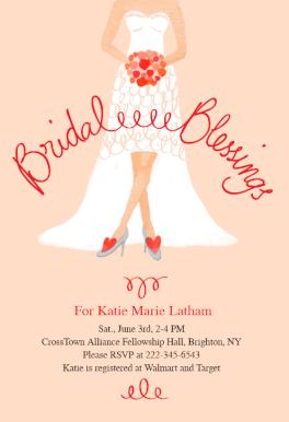 Bridal Blessings Bridal Shower Invitation Template Free Greetings Island Free Wedding Cards Bridal Shower Invitations Templates Free Wedding Templates