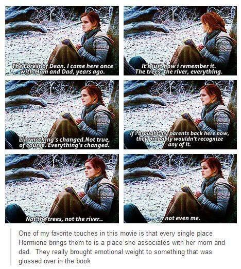 hermione sacrificed soooo much!