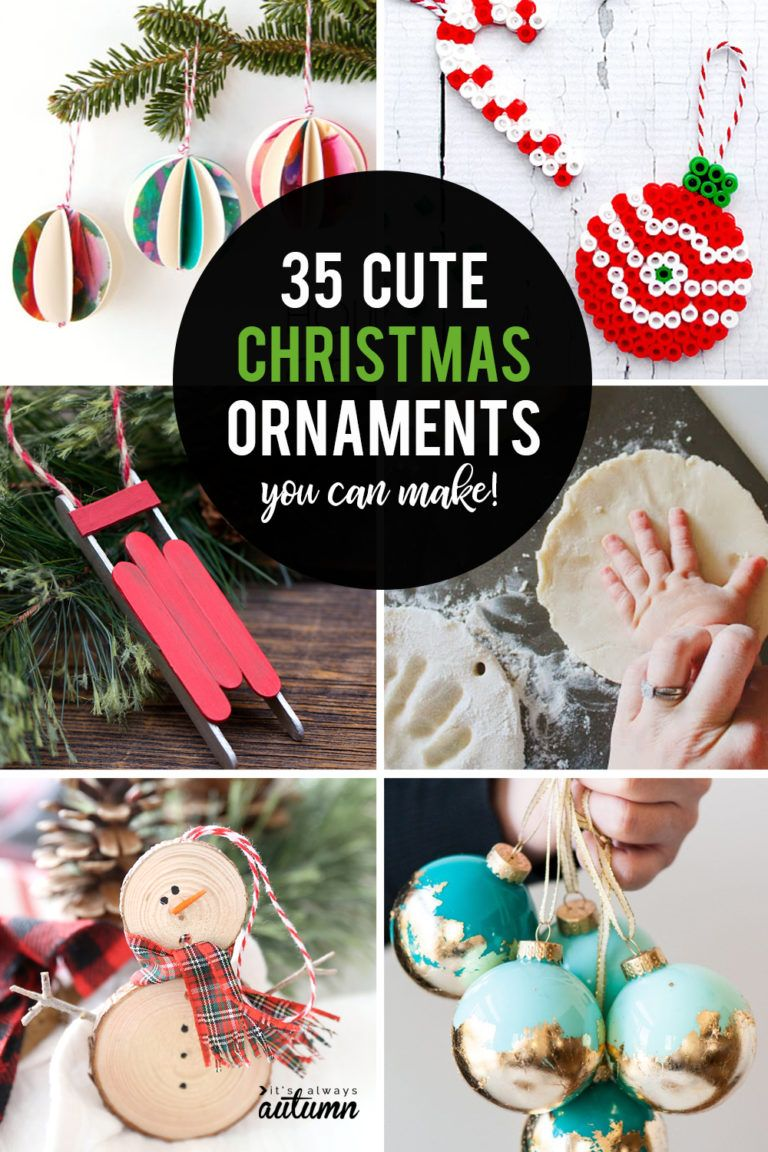 35 Beautiful Diy Handmade Christmas Ornaments It S Always Autumn Handmade Christmas Gifts Diy Handmade Christmas Ornaments Diy Christmas Ornaments