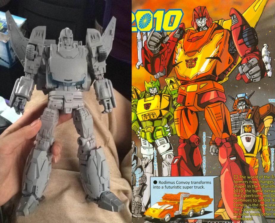 G1 AUTOBOT RODIMUS Prime repro Labels Transformers génération 1