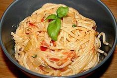 Spaghetti - Tomaten - Feta - Pfanne von hansolocg | Chefkoch #vegetariandish