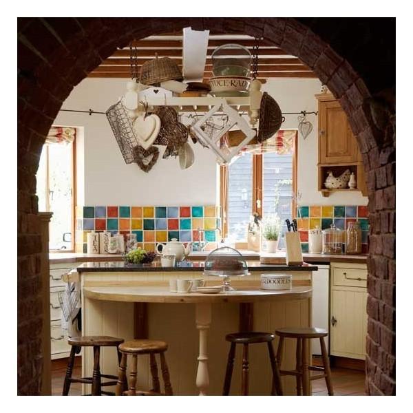 Country Kitchen With Tiled Splashback