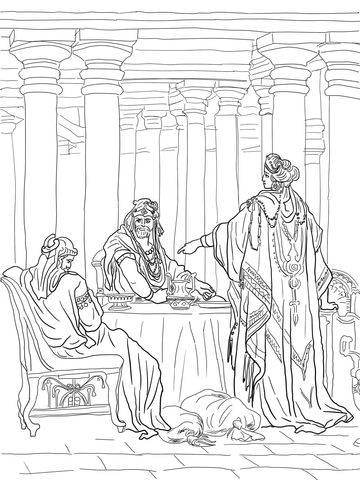 Esther Accusing Haman coloring page from Queen Esther category ...