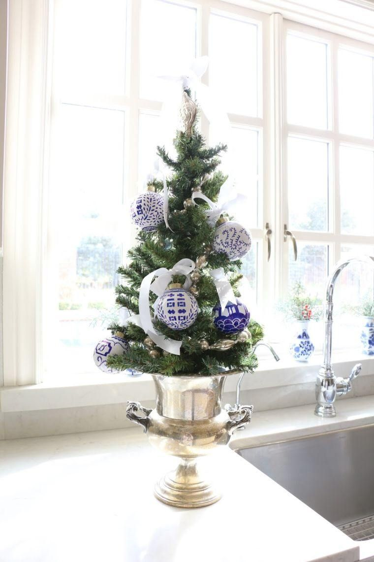 White and blue fir for a holiday of Christmas in spirit of winter ...