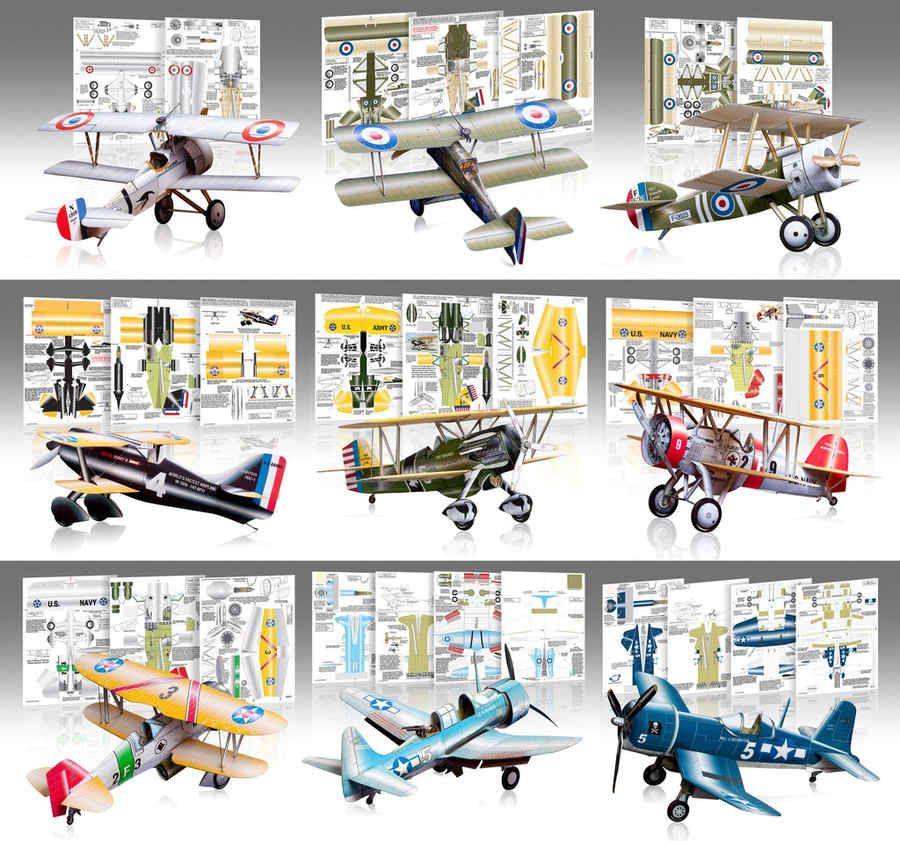 Aviones de papel para armar de la primera guerra mundial | Cosas que ...