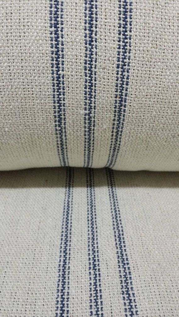 Grain Sack Fabric By The Yard Farmhouse Fabric Ticking Fabric