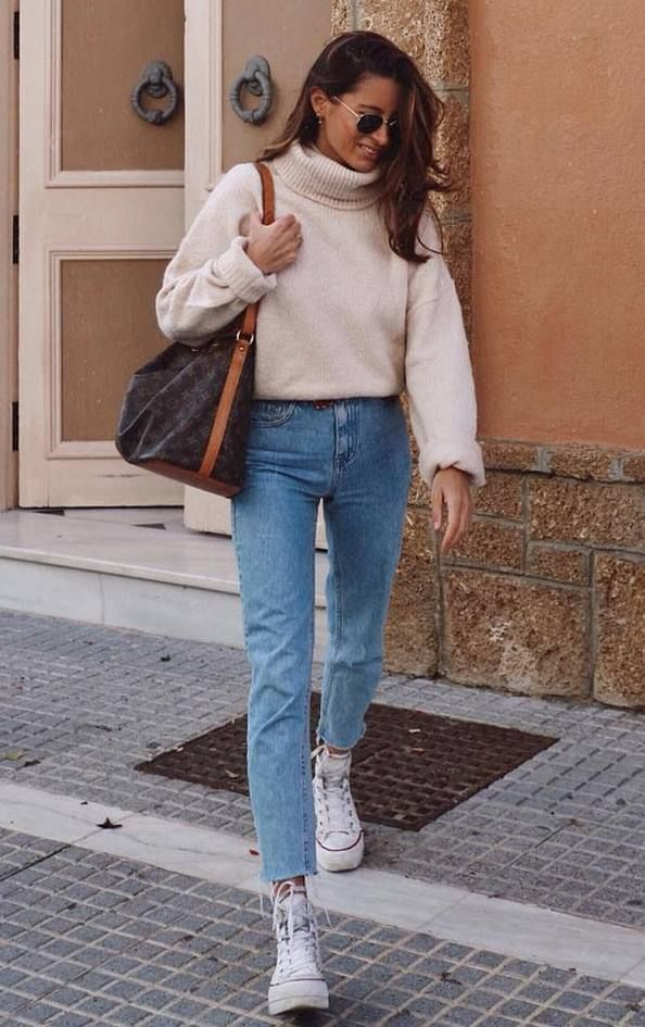 comfy fall outfit to copy right now converse boyfriend