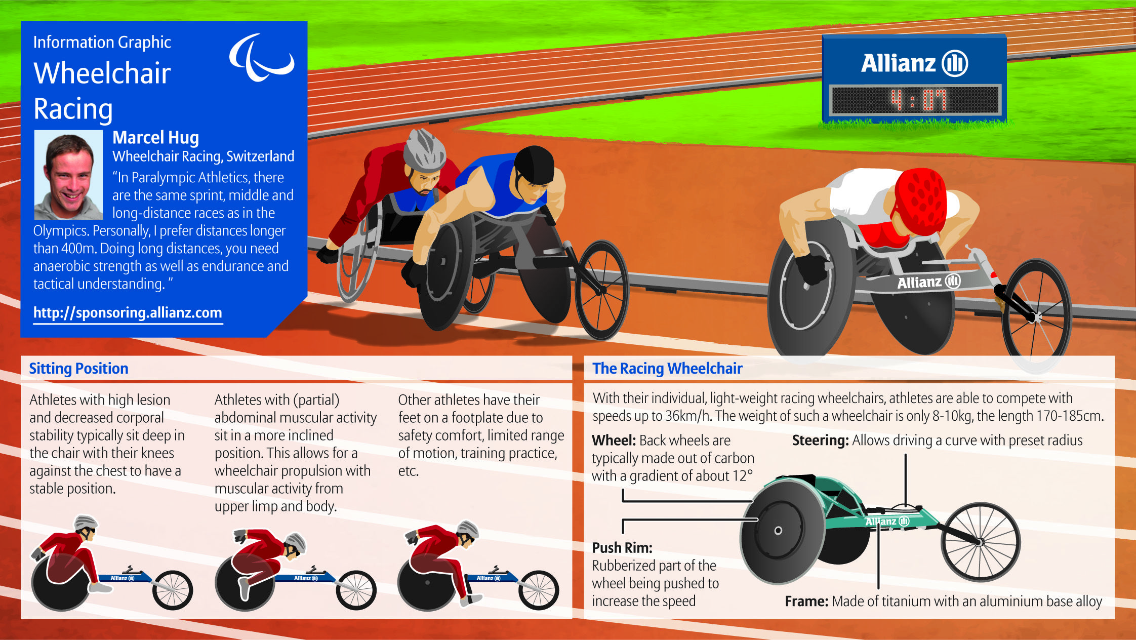 Wheelchair racing is a sport offered through Disabled