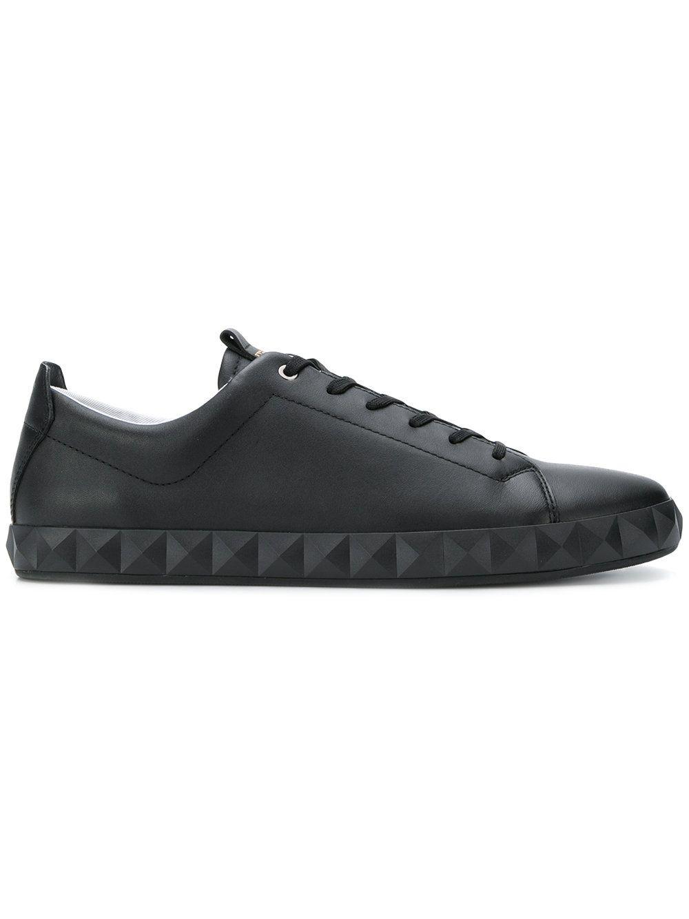 geometric sole lace-up sneakers - Black Emporio Armani pzA0USNTe
