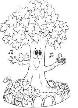 Desenhos Dia Da Arvore Para Colorir Plantao Blog Arvore Para