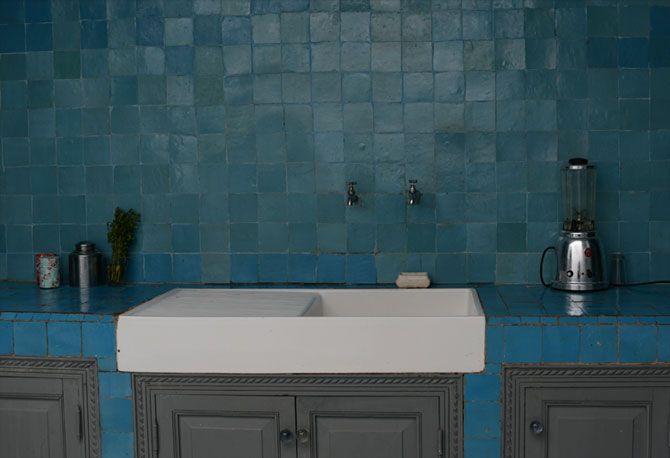 Zellige blu zellige bejmat real handmade maroccan tiles