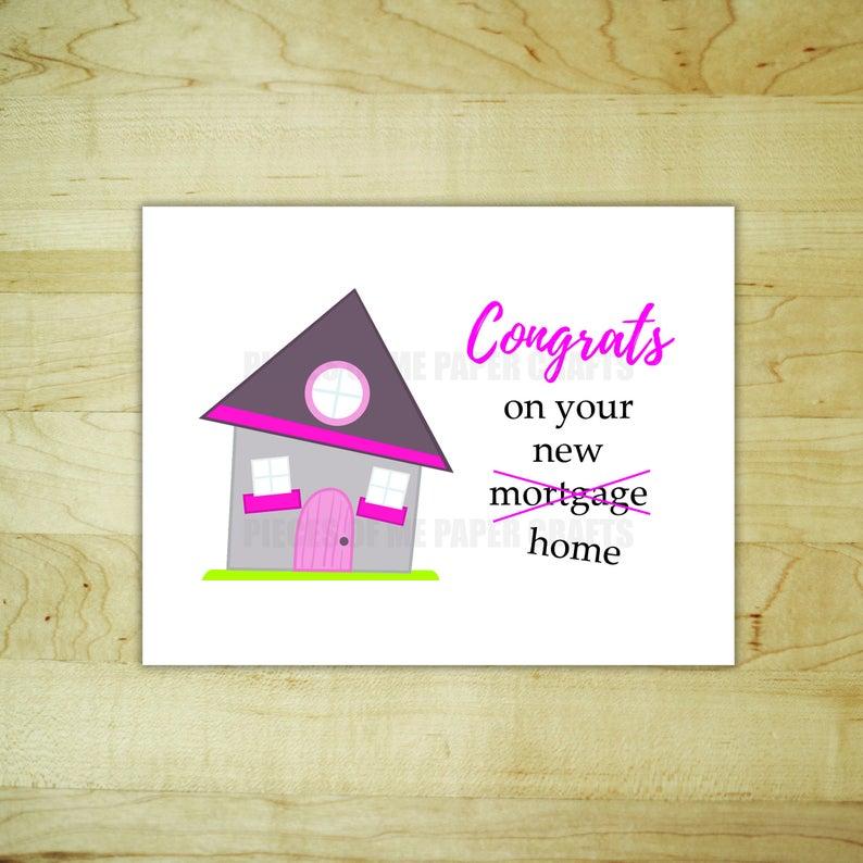 Sarcastic New Home Card Funny Congratulations On Your Etsy New Home Cards Congratulations Card Cards