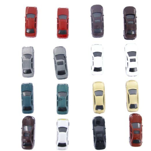 Amazon.com: 100pcs Painted Model Cars Building Train Layout Scale HO (1 to 100) CB100-3: Toys & Games
