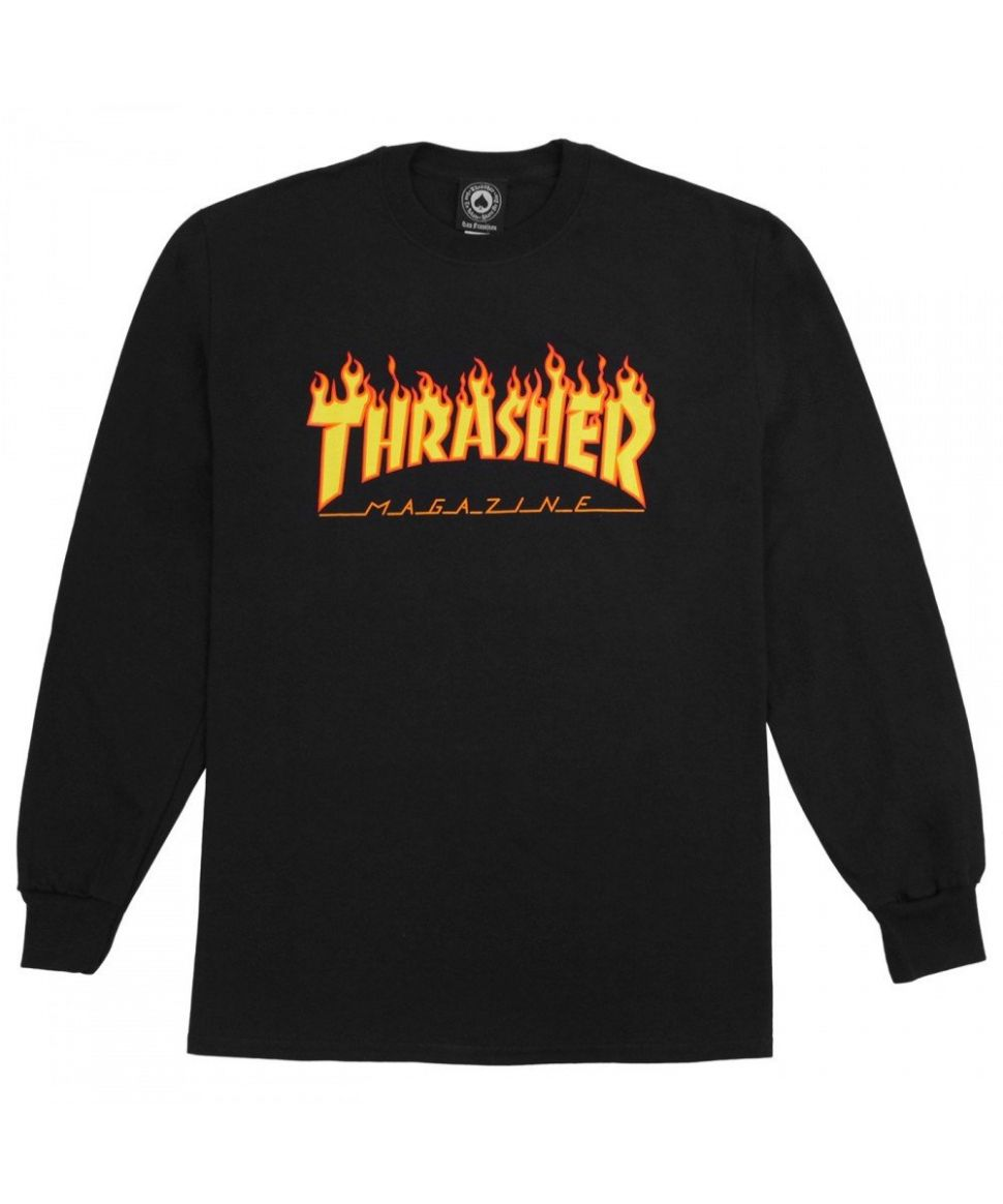 TShirt Manches Longues Noir Thrasher Flame All kinds of clothes