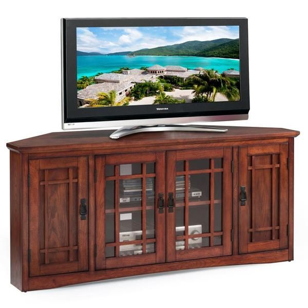 Mission Oak Hardwood 60 Inch Corner Tv Stand