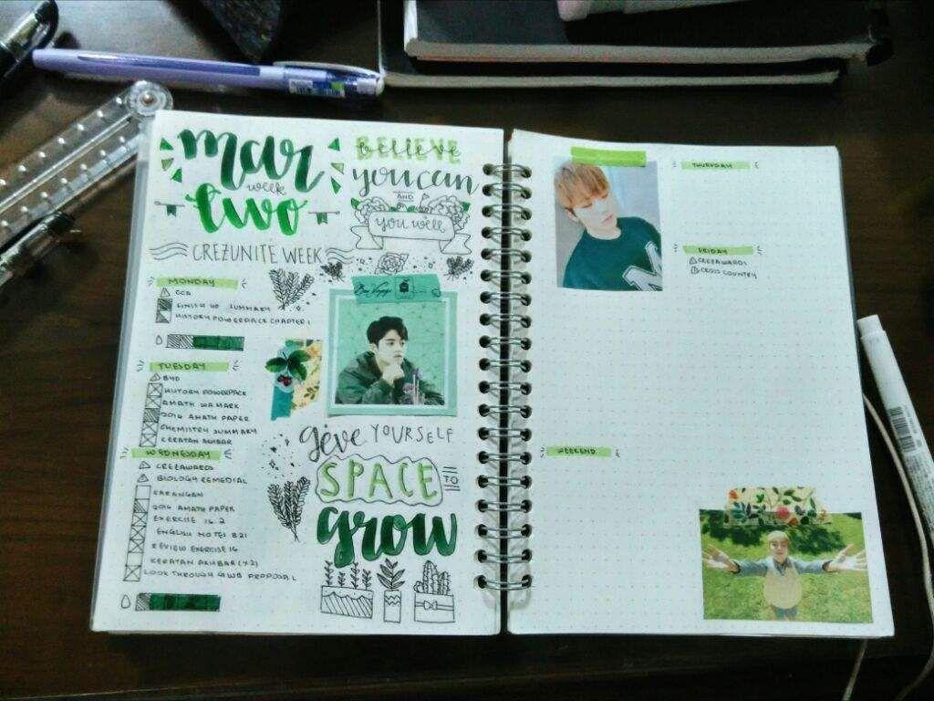 Seventeen Bullet Journal   Carat 캐럿 Amino   Bullet Journal ...