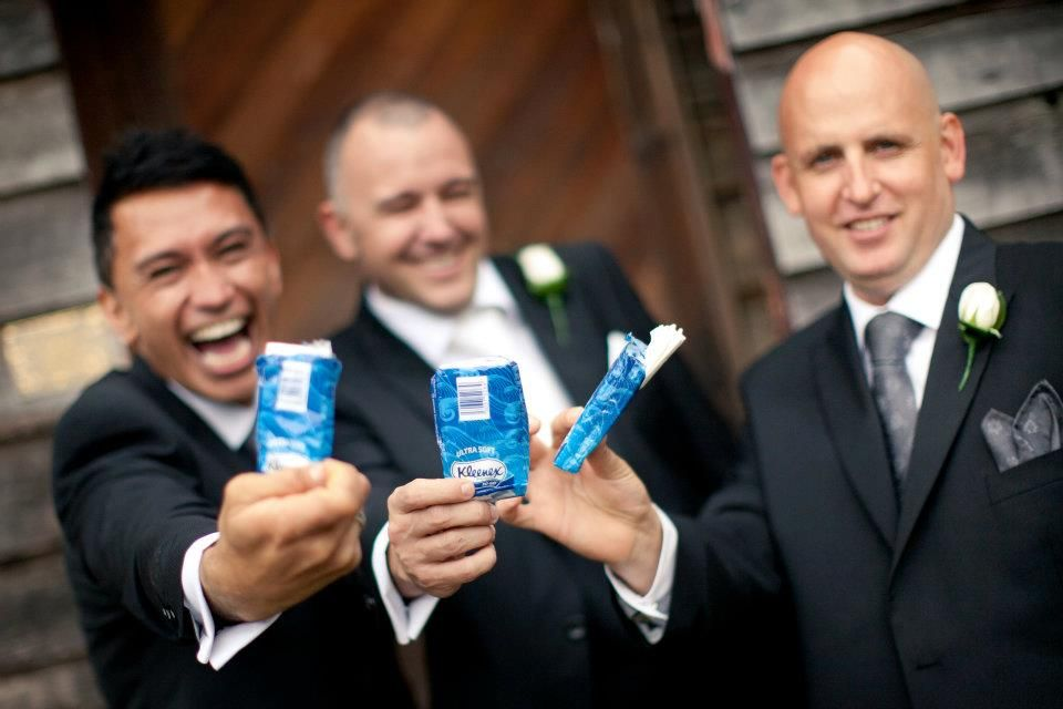 did the groom cry?.. the boys were prepared!