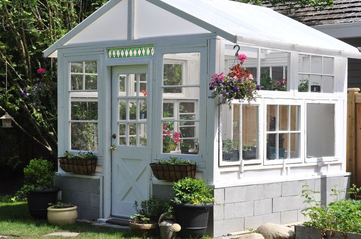 We were inspired to build this greenhouse from a pile of ...