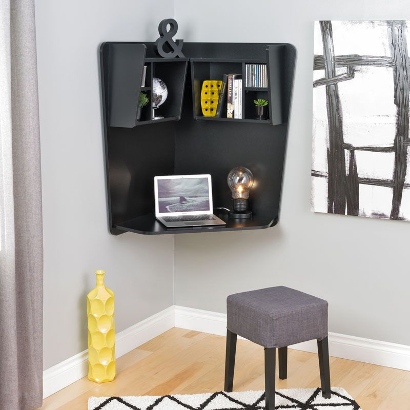 16 Wall Mounted Desk Ideas That Are Great For Small Spaces Floating Corner Desk Home Office Furniture Floating Desk