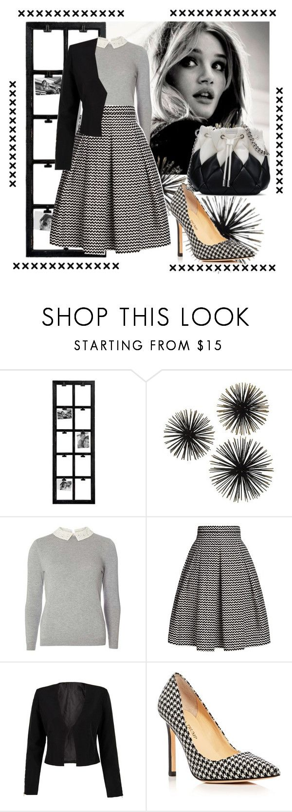 """BLACK & WHITE COMBINATION !"" by jasmine-monro ❤ liked on Polyvore featuring Dorothy Perkins, Rumour London, WithChic, Ivanka Trump and STELLA McCARTNEY"