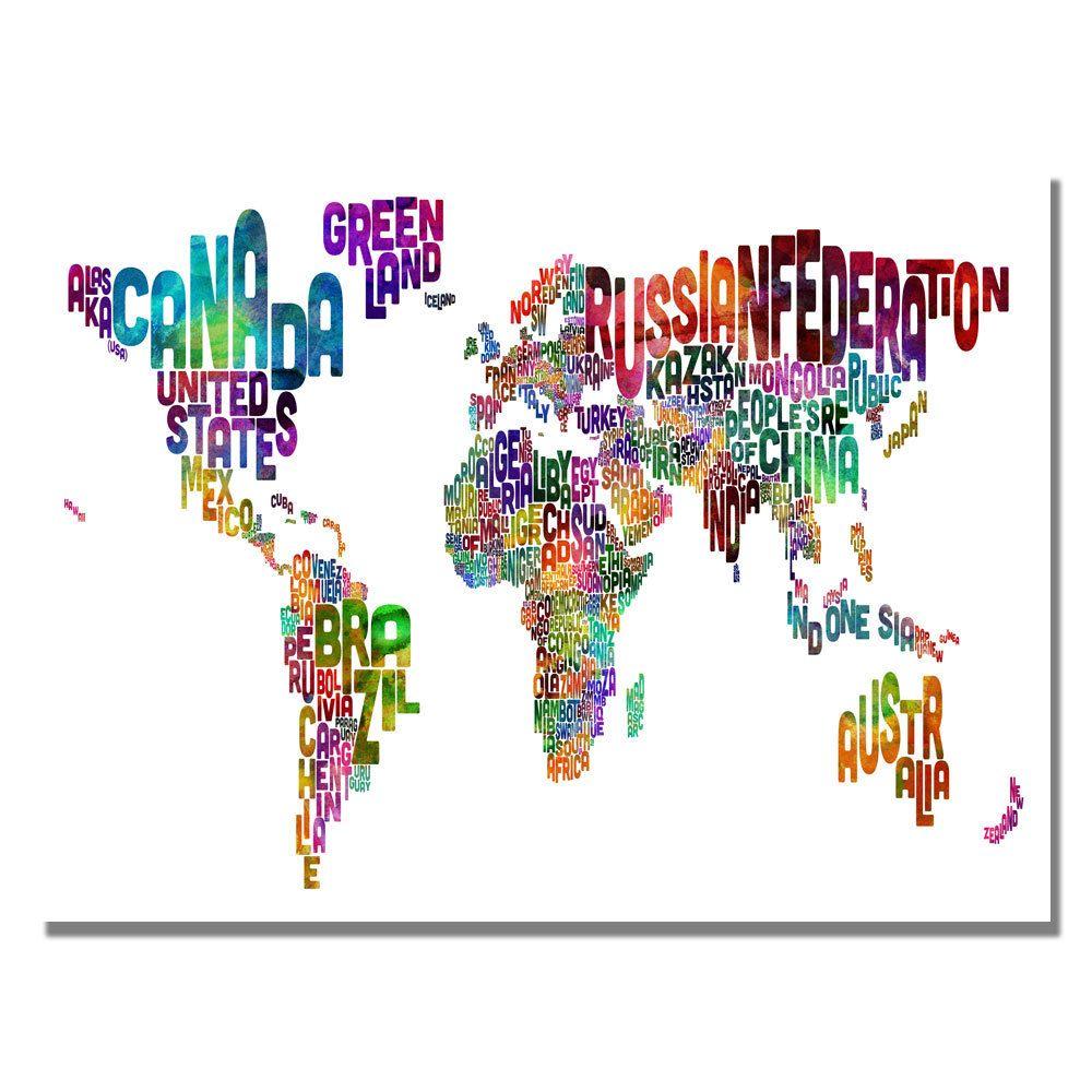 Michael tompsett typography world map iii canvas art overstock michael tompsett typography world map iii canvas art overstock gumiabroncs Image collections
