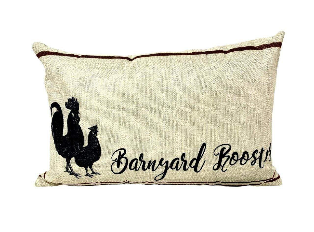 Photo of Barnyard Rooster   Pillow Cover   18 x 12   Primitive Decor   Vintage Decor   Farmhouse Decor   Throw Pillows   Rustic Decor   Cabin Decor – Cover & Insert / 18×12
