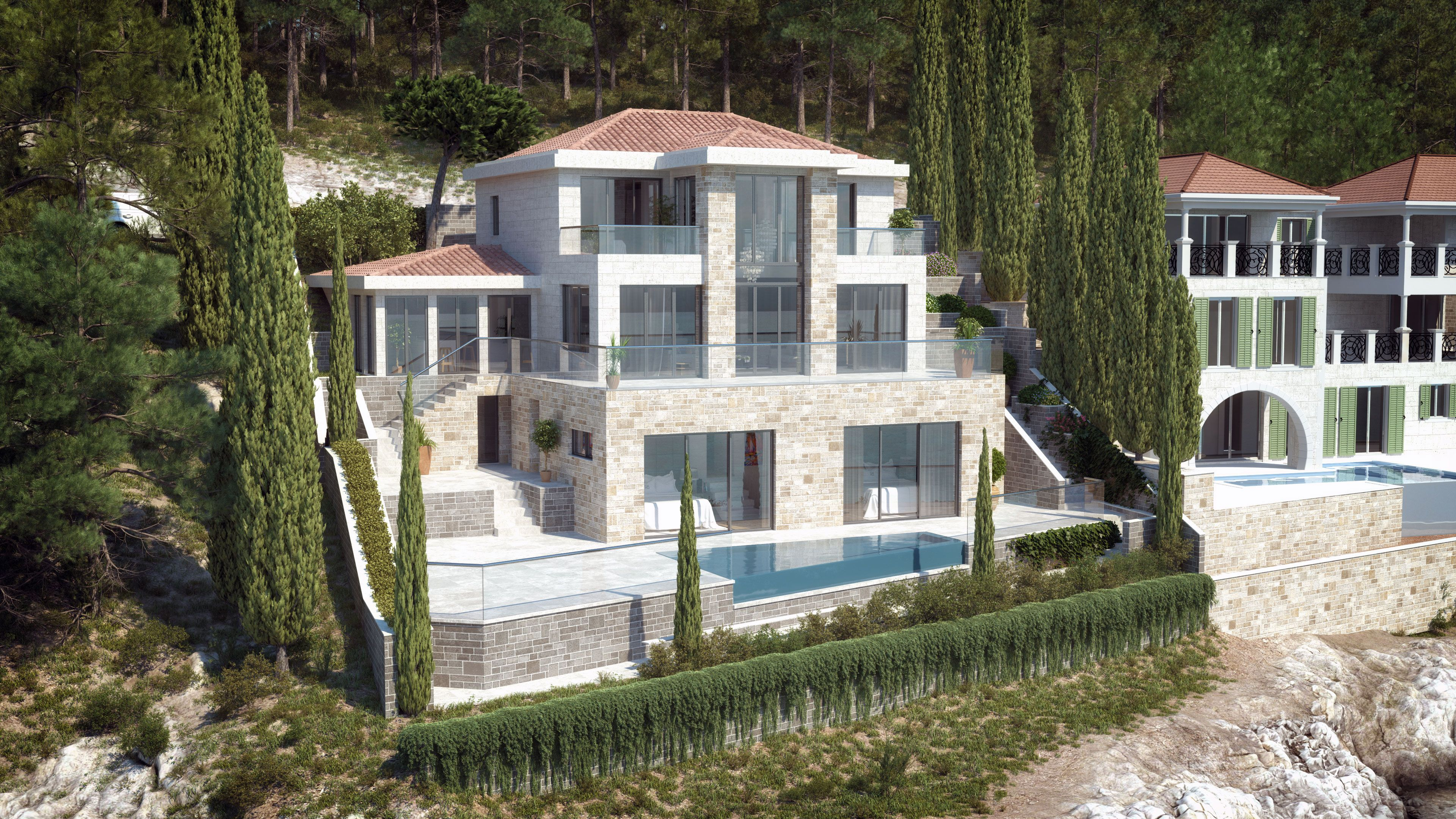 Luxury Stone Seafront Villa Ivy By Pin & Pin. http://www.pinandpin.hr