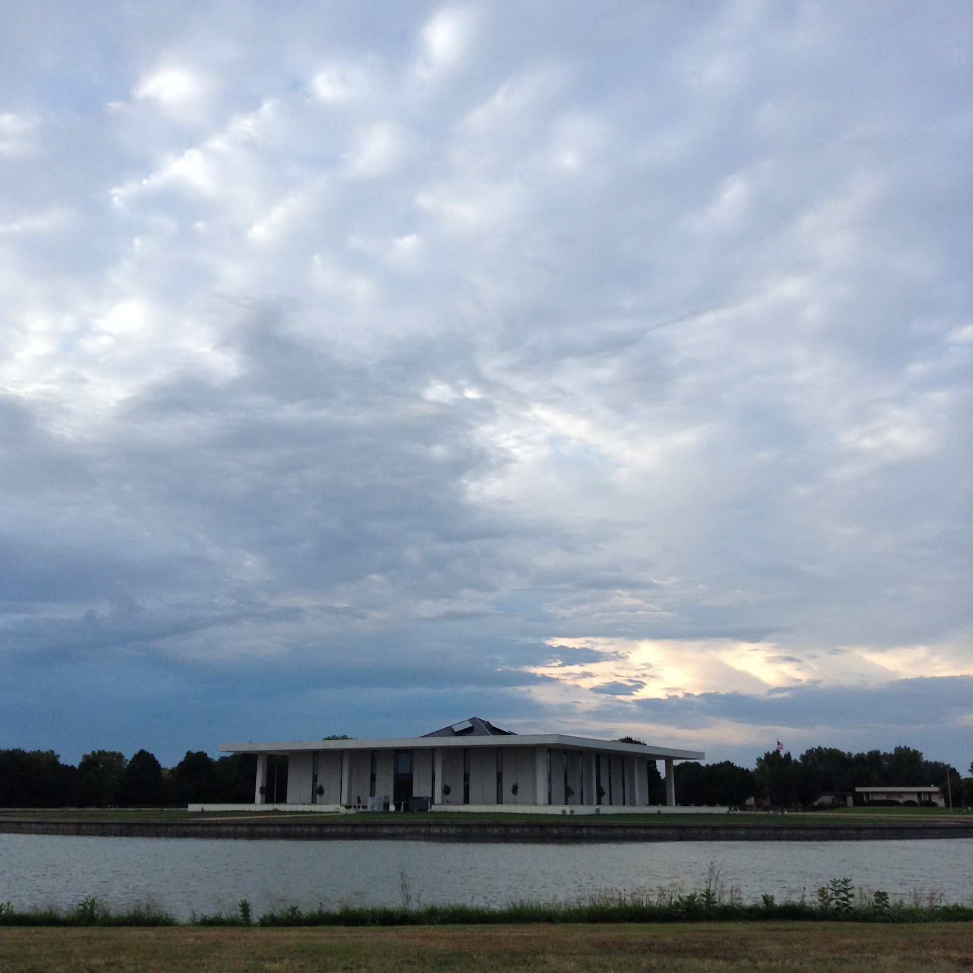 The Stuhr Building This Morning Backed By A Retreating Summer Storm Summer Storm Grand Island Great Photos