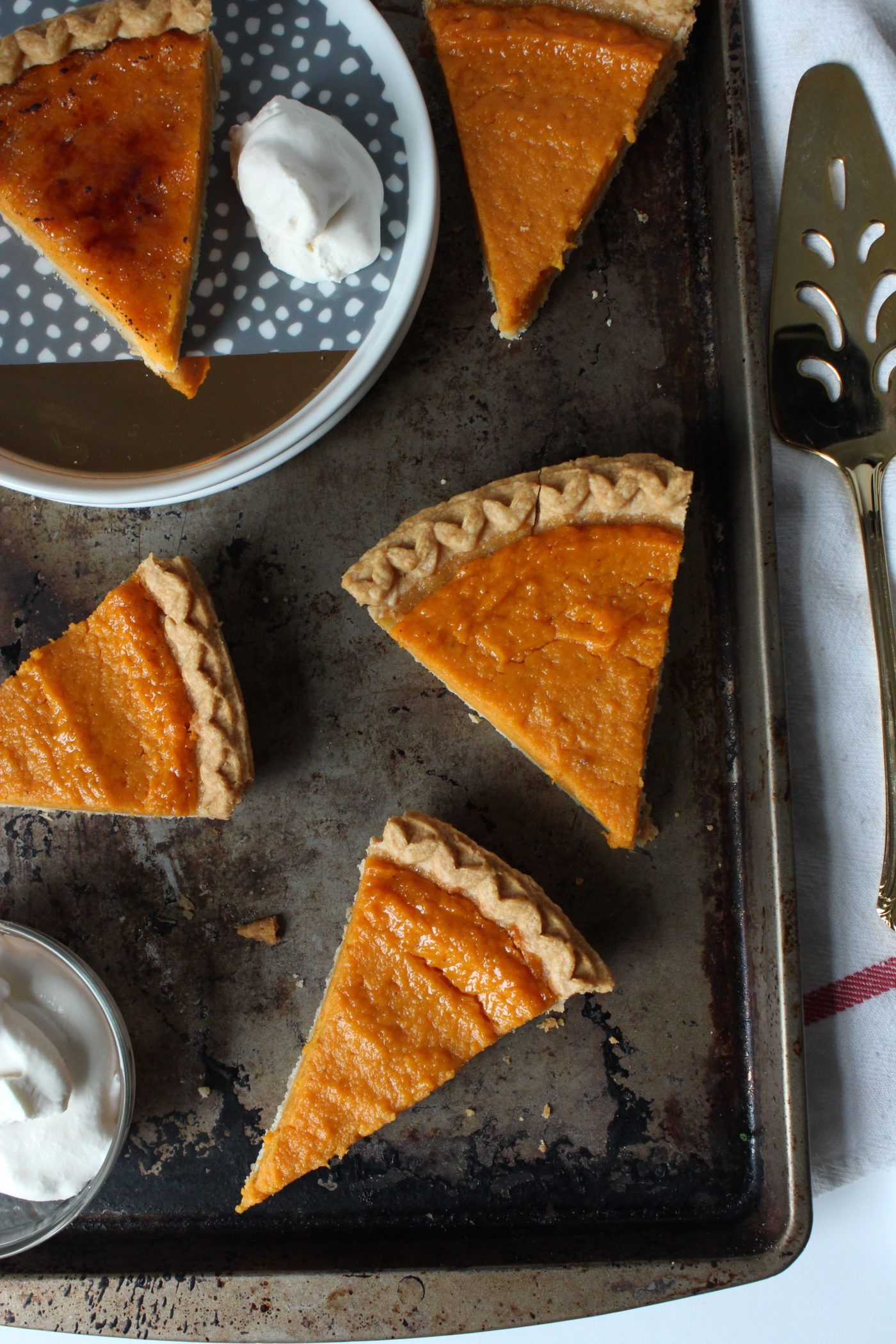 Bourbon Sweet Potato Pie With Maple Whipped Cream Recipe With