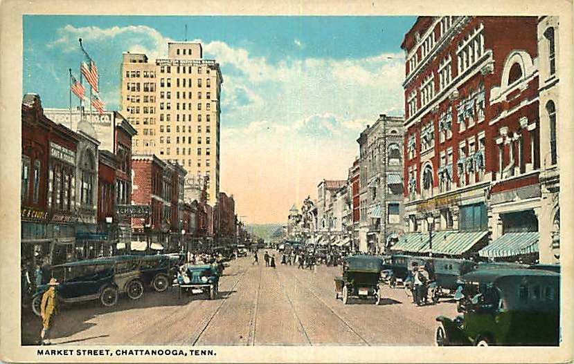 Market Street Chattanooga Tennessee Us 6 95 In Collectibles