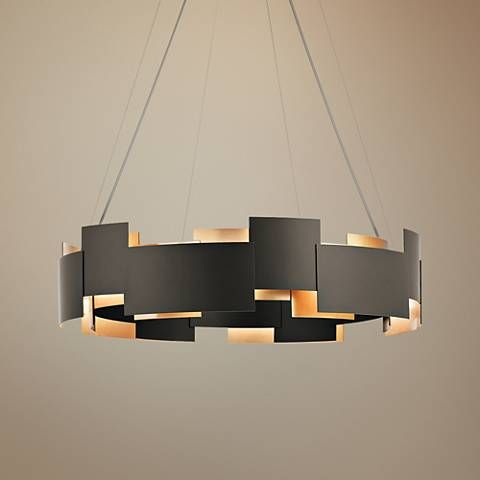 Add breathtaking modern style to your home with this round olde bronze pendant light featuring energy saving leds 26 wide x 6 high x canopy is wide
