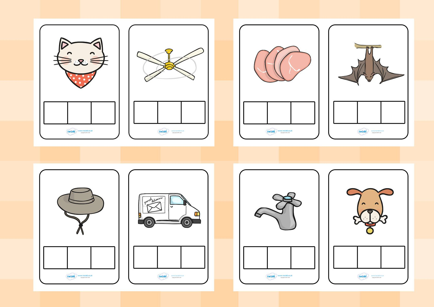 Twinkl Resources >> CVC Words Phoneme Frames >> Printable resources ...
