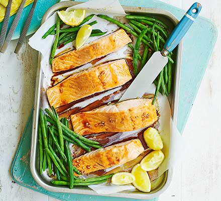 Teriyaki salmon & green beans #teriyakisalmon Teriyaki salmon & green beans recipe | BBC Good Food #teriyakisalmon